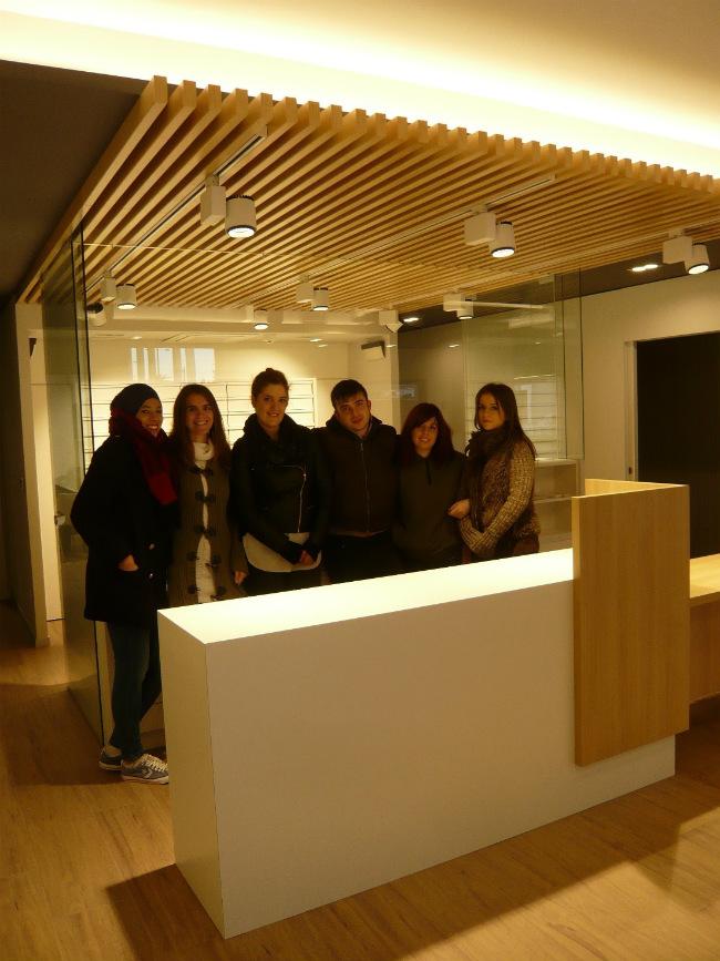 Los estudiantes de Interiores de Creanavarra asisten al resultado final de la reforma