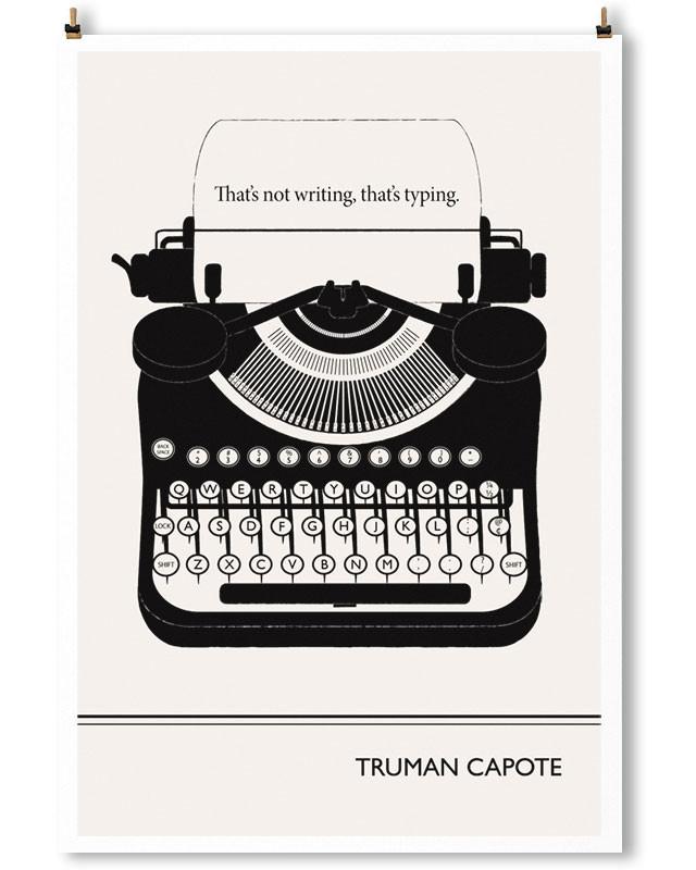 Cita de Truman Capote retratada por Robertson