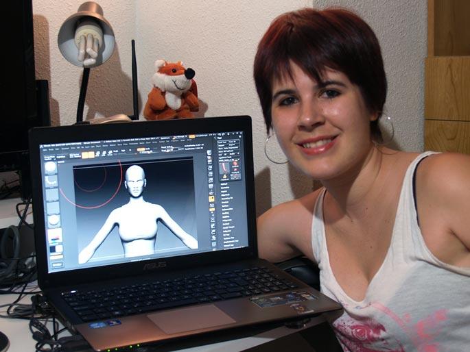 Marta Sanz, estudiante de Videojuegos en Creanavarra