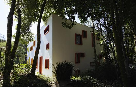 casa cubo bosque