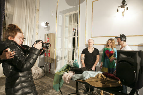 Durante el rodaje del fashion film