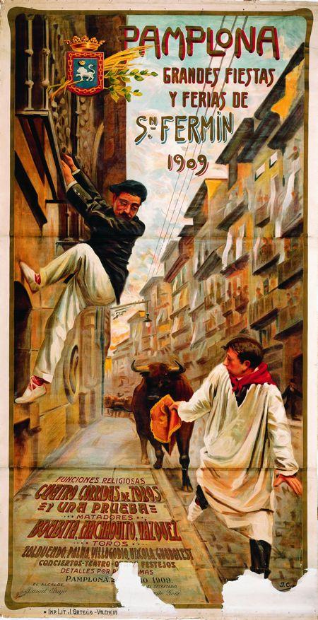 Cartel de San Fermín de 1909
