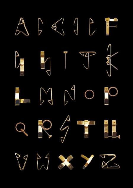 Alfabeto de ganchos
