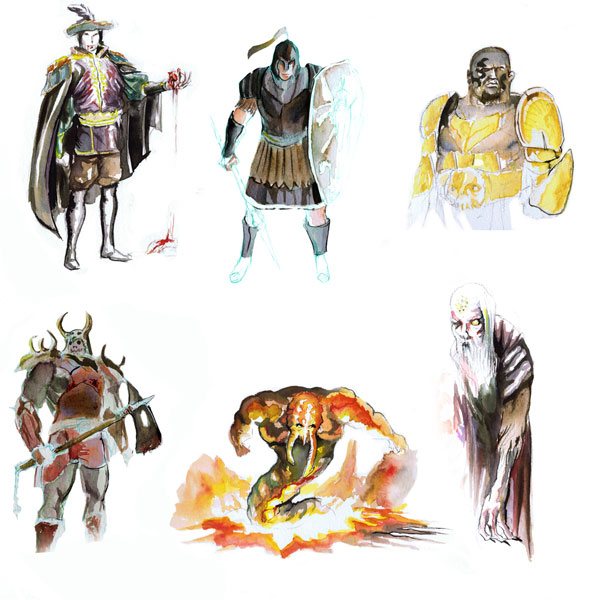 Personajes para Battle for Gea de Alfonso Berroya