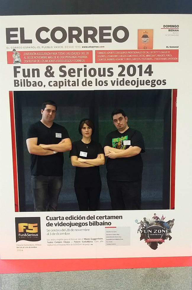 Miembros del Creanavarra en la portada del diario El Correo