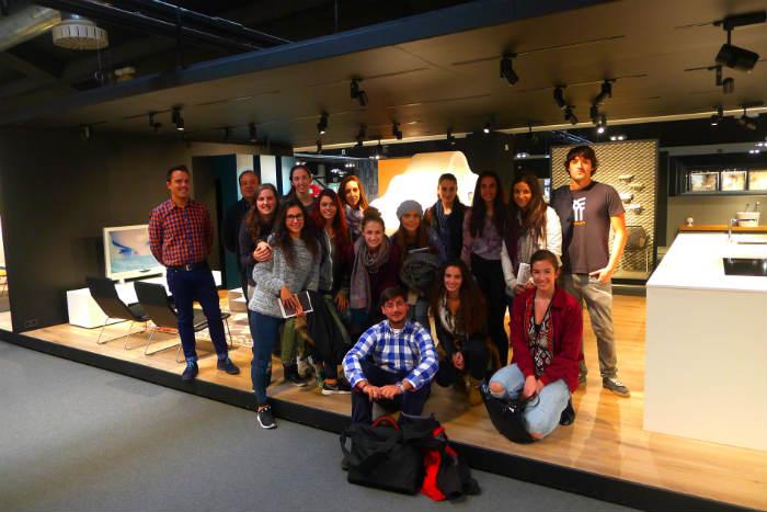 Alumnos de Diseño de Interiores de Creanavarra en Saltoki