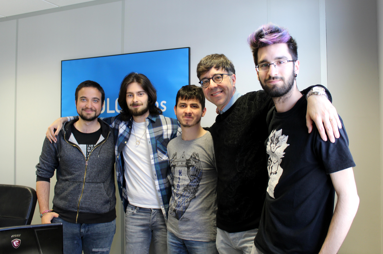 Daniel, Rodrigo, Santiago y Edgar.