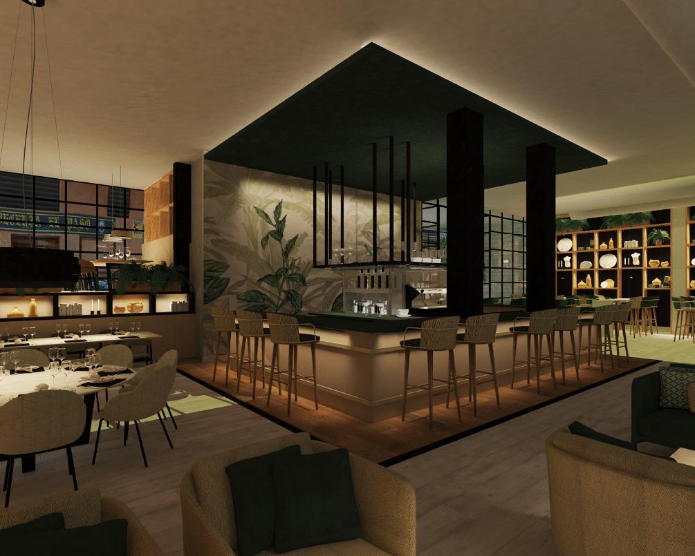 'contrabarra' es el restaurante diseñado por Ángela martinez como trabajo final de estudios