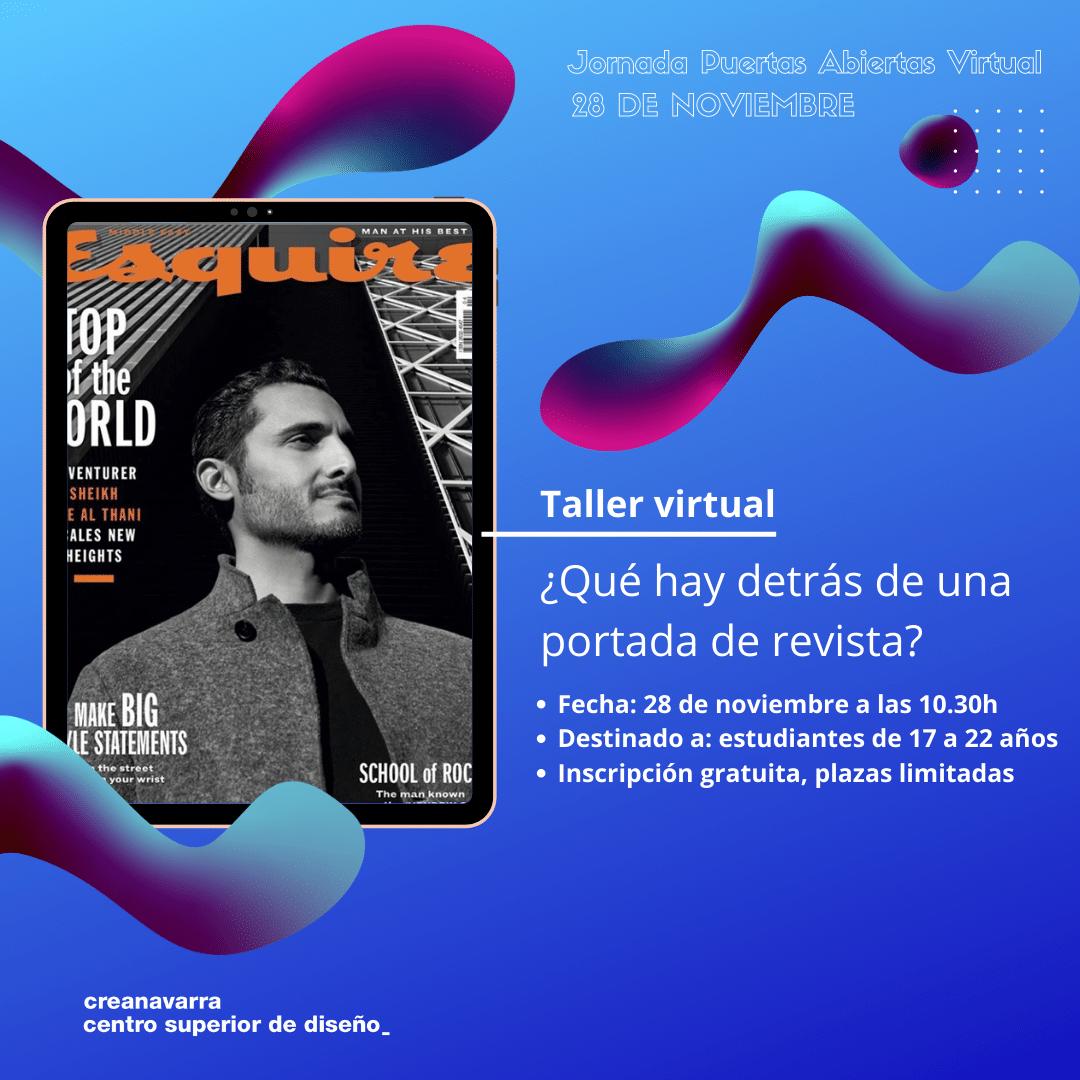 taller virtual gráfico: ¿qué hay detrás de una portada de revista?