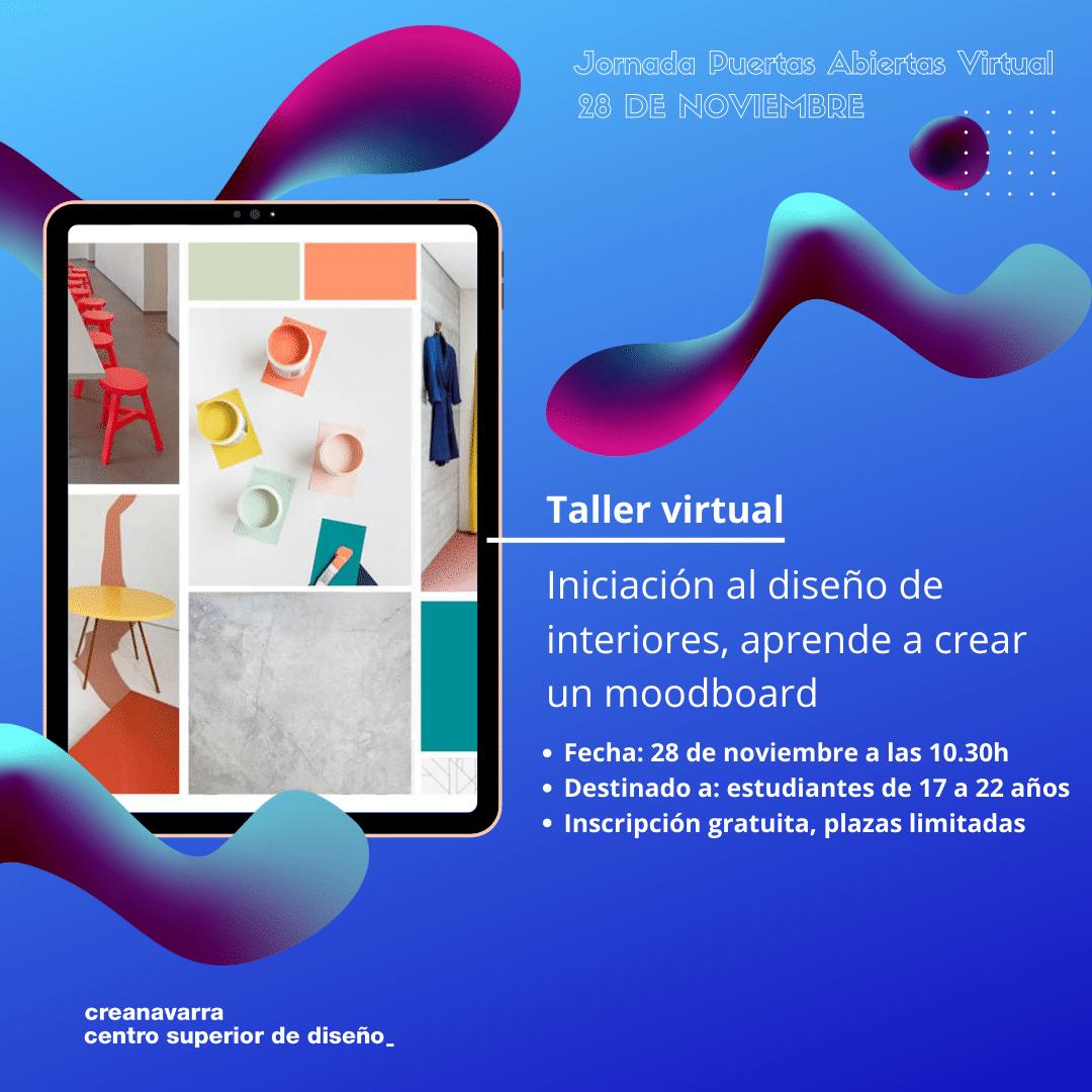 taller virtual interiores: iniciación al diseño de interiores, aprende a crear un moodboard