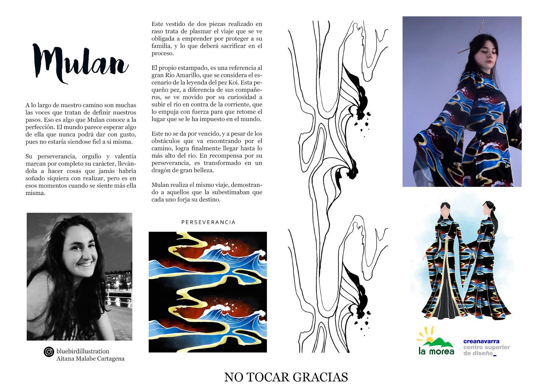 Inspiración look de Mulán de Maitane Malabe
