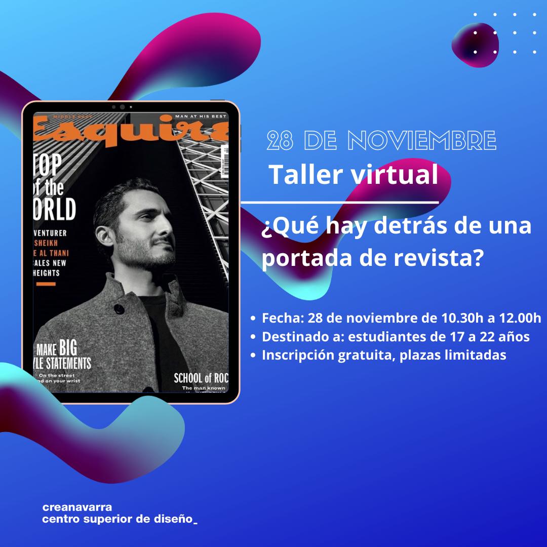 taller virtual gráfico una portada de revista