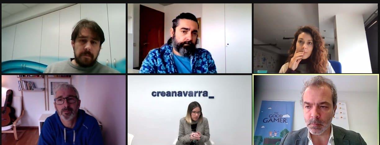 Creanavarra realiza un coloquio virtual sobre el sector del videojuego en Navarra junto a AEVI
