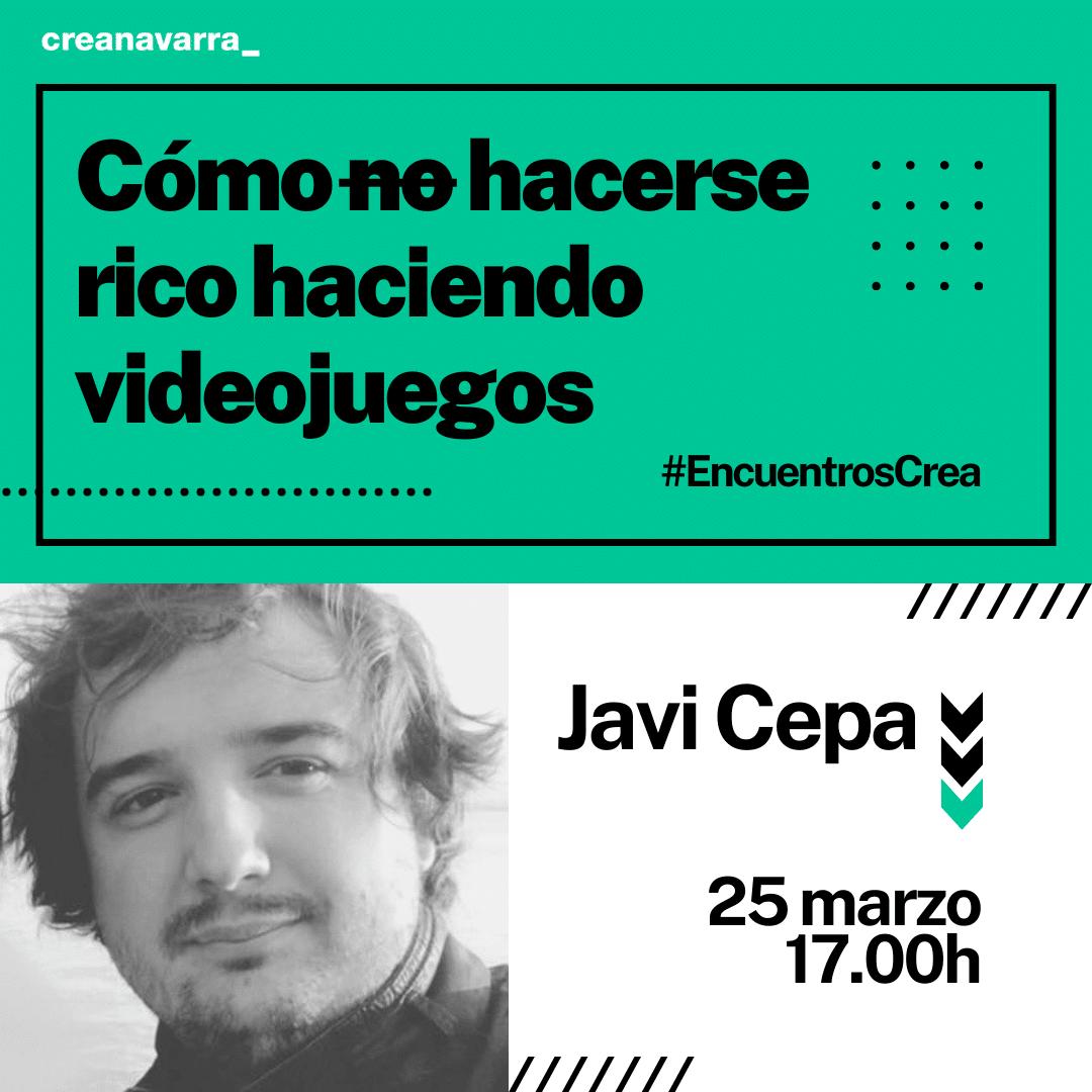 'Encuentro Crea' con el diseñador de videojuegos Javi Cepa el 25 de marzo